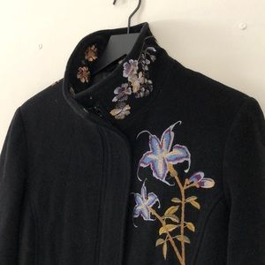 Vintage Style Black Wool Coat - lots of life left!